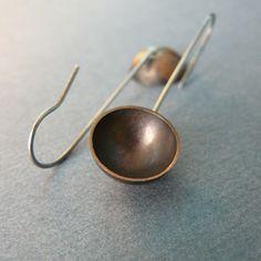 copper bowl earrings by szaranagayama.deviantart.com on @deviantART