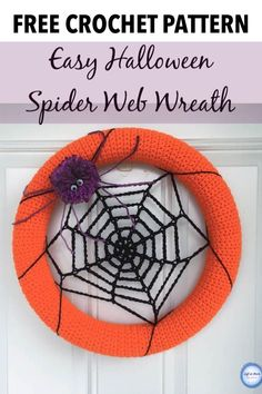Crochet a Halloween Spider Web Wreath Use this free crochet pattern to make a cute Halloween wreath that looks like a spider web. Trick or Treaters will love this fun addition to your front door. Crochet Wreath, Crochet Fall, Holiday Crochet, Free Crochet, Crochet Toys, Halloween Spider, Halloween Fun, Spider Costume, Halloween Wreaths