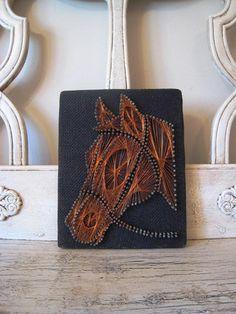 Vintage String Art Horse Picture