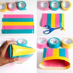 :: armelle blog ::: diy: duct tape bag  step by step instructions on how to make a bag out of duct tape.