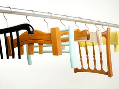 How great would your summer dresses look hanging on these?! ..Time to put the closet of display.