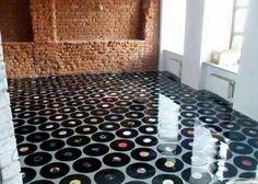 #repurposed #Vinyl #floor!