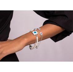 #Beautiful handmade Zircon bracelet coming together with pearls. www.ananasa.com