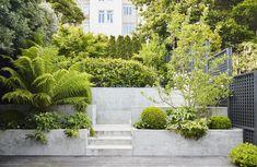 Visual Log of Projects / Work at Terremoto / A Landscape Office / LA + SF California Diy Garden Bar, Garden Boxes, Garden Planters, Garden Design, Home And Garden, Garden Art, Sloped Backyard, Backyard Plan, Sloped Garden