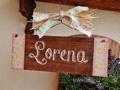 Placa Customizável Lorena | Olha o que eu fiz... | 39D469 - Elo7