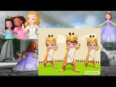 Sofia the First Amber and James jump Gangnam Style