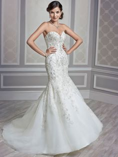Style * 1591 * » Bridal Gowns, Wedding Dresses » Kenneth Winston 2015 Collection » by Kenneth Winston (Private Label By G) » Available Colours: Ivory/Ivory/Silver, White/White/Silver, Cafe/Ivory/Silver ~ Shown an Illusion deep Sweetheart neckline version of Style *1590*.