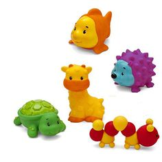 Infantino Sensory Pals - Cute textured animals with bright colors perfect for teething and exploration