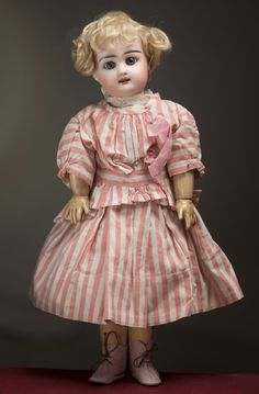 """15"""" (38 cm) Antique cabinet size Rabery and Delphieu Bisque Bebe doll Her head impressed R 4 D, Antique dolls at Respectfulbear.com"""