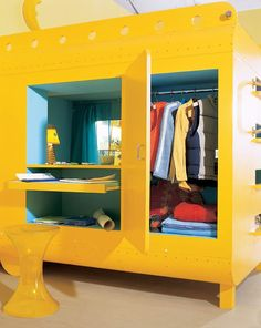 multifunctional, including bed, desk, wardrobe and even a mezzanine.