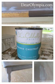 CeCe Caldwell   Dear Oly Launch and My Refinished Dining Room Table CeCe Caldwell | before and after | Virginia Chestnut | Hershey Brown | Antique White | chalk paint