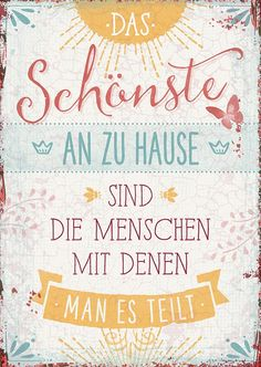 Postcard - The best thing about your home- Postkarte – Das Schönste an zu Hause Postcard – The best thing about your home - Brush Lettering, Hand Lettering, True Words, Quotations, Funny Jokes, Life Quotes, Family Quotes, Wisdom, Thoughts