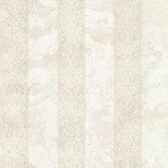 "Chesapeake Stripes Presque Isle Regal 33' x 20.5"" Damask 3D Embossed Wallpaper"