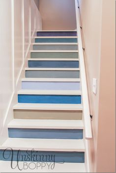 Colorful painted staircase idea