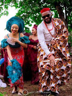 BBN Wonderland Bride Samantha and her Forever Love Sam's Beautiful Wedding in Owerri Ghana Traditional Wedding, African Traditional Wedding Dress, Traditional Outfits, African Beauty, African Fashion, African Wear, Couples African Outfits, Igbo Bride, Igbo Wedding