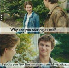 Haha. Divergent funny.