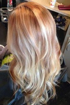 Red Hair With Blonde Highlights, Strawberry Blonde Highlights, Red Blonde Hair, Ash Blonde, Red With Blonde Ombre, Blonde Hair With Copper Lowlights, Gold Highlights, Brown Hair, Strawberry Blonde Hair Color