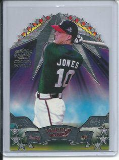 Chipper Jones Atlanta Braves 1998 Crown Royale All-Stars Die-Cut Baseball Card #12