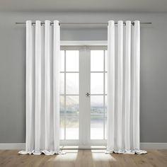 Eleganter Samtvorhang in Weiß - klassischer Stil für Ihr Zuhause