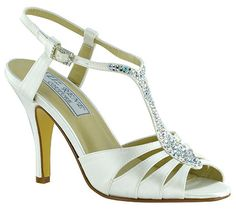White Dyeable Silk Liz Rene Bliss Bridal Shoes