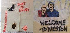 Weston street art by Jamie Paul Scanlon