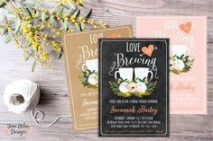 Love is Brewing Bridal Shower Invitation by JuneArborDesigns