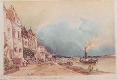 Rudolf Von Alt - Der Landeplatz in Stein an der Donau