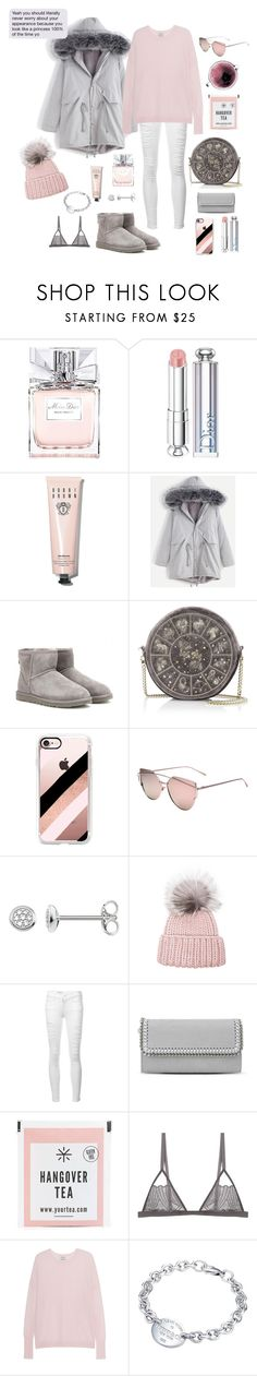 """""""A Princess 100% Of The Time"""" by iii-i-mcmxcv ❤ liked on Polyvore featuring Christian Dior, Bobbi Brown Cosmetics, WithChic, UGG Australia, Casetify, Thomas Sabo, Eugenia Kim, Frame, STELLA McCARTNEY and Concord"""