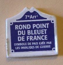 Fève du MH 2000 - Places de Paris : La Place Rond Point du Bleuet de France
