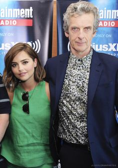 Jenna Coleman and Peter Capaldi attend SiriusXM's Entertainment Weekly Radio Channel at Comic-Con International - 11 July 2015