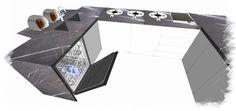 0005 progetto piani cucina in pietra graffite e lavelli scatolari, design by blancomarmo.it