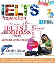 #dolphinheadhunters Dolphin Head Hunters is the best IELTS and Spoken English coaching institute in Chandigarh  Contact now: Hr Madhu Contact no: 9780754465, 0172-4005567