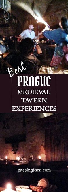 Many visitors to Prague spend a raucous evening in a Prague medieval tavern. The experience is fun with plenty of food and drink while sit in the midst of sword fights, magicians, fortune tellers, snake charmers and more.  #Prague #Medievaltavern #Travel #Europe #Czech