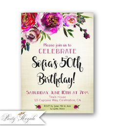 307 best birthday invitations for women images on pinterest