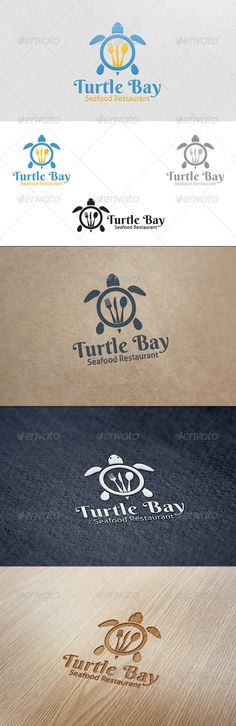 Turtle Bay Restaurant - Logo Template