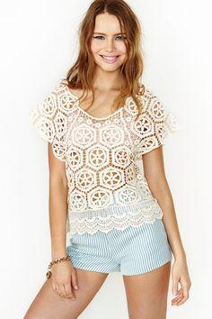 Love Fest Crochet Top