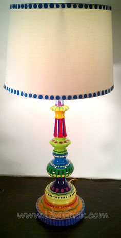 Hand-painted Table Lamp #2