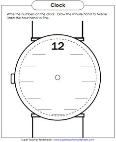 New Worksheet: Write the numbers on the clock face.