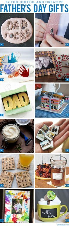 Dad...12 thoughtful and creative DIY Father's Day gifts #fathersday