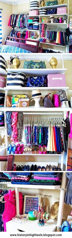 No closet space? No problem! Turn any wall into a giant boutique closet with the Ikea Stoleman system. http://historyinhighheels.blogspot.com/2014/… | Pinterest