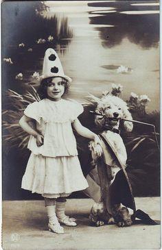 Vintage Postcard ~ Girl w/ Poodle by chicks57, via Flickr