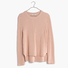 A crazy-soft crewneck sweater with textured ribbing, engineered for a flattering streamlined look. Say <i>bonjour</i> to your new favorite option for lazy sweater days.  <ul><li>True to size.</li><li>Cotton/viscose/nylon.</li><li>Hand wash.</li><li>Import.</li></ul>