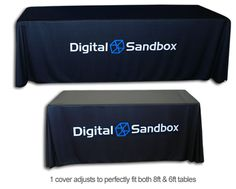 Switching from show to show? Use adjustable table covers so yours will fit every table you use!