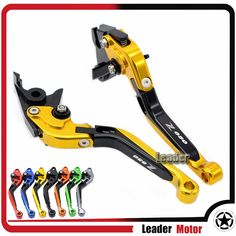 33.29$  Watch now - http://aliozn.shopchina.info/go.php?t=32813199724 - For Kawasaki Z650 Z 650 2017 Motorcycle Accessories CNC Folding Extendable Brake Clutch Levers Gold LOGO Z650  33.29$ #SHOPPING