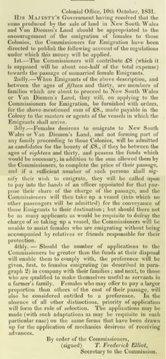 The Emigrant's Guide to New South Wales and Van Diemen's Land 1832 - Part III - Female Emigration