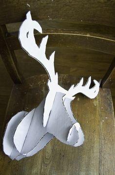 DIY Faux Taxidermy Deer:     What you'll need:   - Deer Template: number 1  number 2  number 3  number 4  number 5  number 6  - C...
