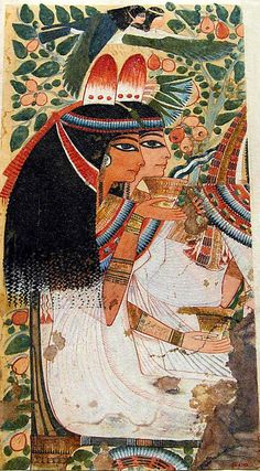 The mother and wife of Userhat ~ Tomb of Userhat