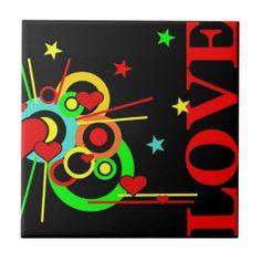 Love Ceramic Tile #Love #Heart #Valentine #Tile