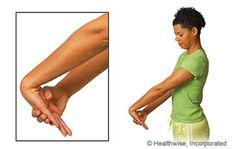 Wrist extensor stretch - carpal tunnel