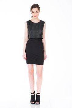 rochie top piele Fashion Addict, Black, Dresses, Vestidos, Black People, Dress, Gowns, Clothes, Gown